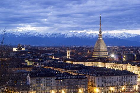 Turin, Piemonte, Italy. Cityscape from Monte Dei Cappuccini Valokuvavedos