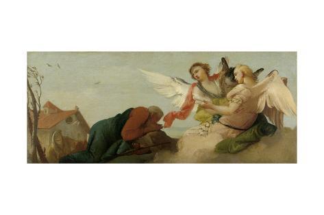 Abraham with the Three Angels, Francesco Zugno Art Print