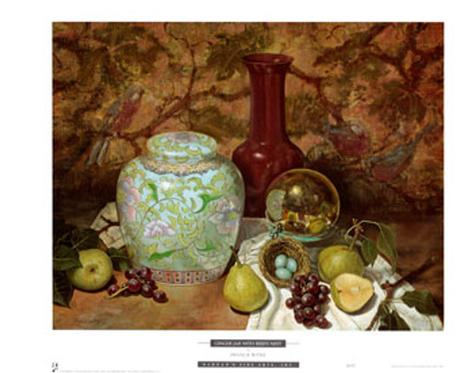 Ginger Jar with Bird Nest Art Print