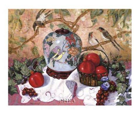 Grapes and Pomegranates Art Print