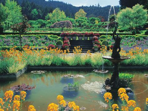 Fountain And Pond Butchart Gardens Canada Impress O Fotogr Fica Por Francie Manning Na