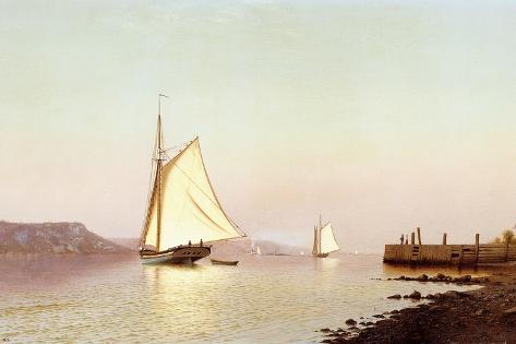October on the Hudson Lámina giclée