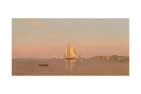 View of Boston Harbour Near Castle Island, 1872 Lámina giclée