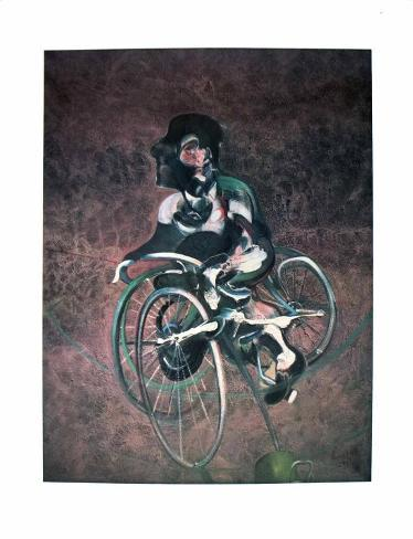 Georges a Bicyclette Art Print