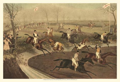 The Grand Steeple Chase III Art Print