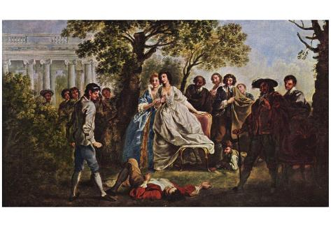 Francis Hayman - A Scene from Shakespeare's As You Like It, Art Poster Print Poster
