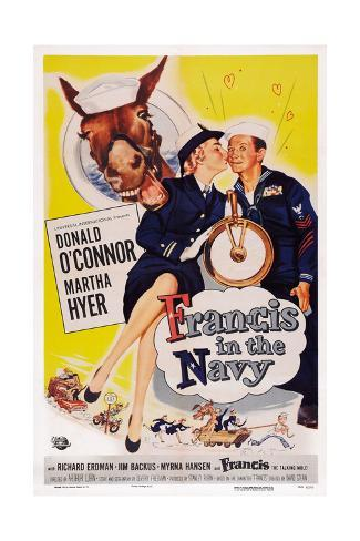 Francis in the Navy Giclee Print