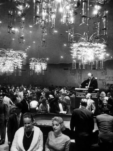 All Forms of Gambling Such As: Roulette, Craps, and Slot-Machines at Riviera Hotel Photographic Print