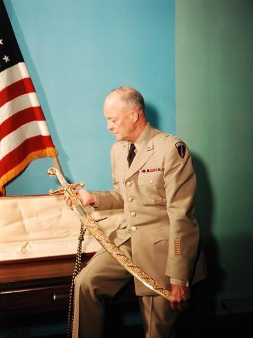 Gen. Dwight D. Eisenhower in Uniform Photographic Print