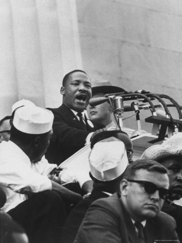 Rev. Martin Luther King Jr. Giving His