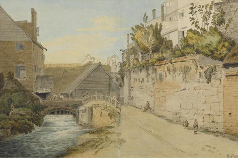 Exeter: Between the Quay Gate and West Gate Outside the City Walls, 1791 Giclee Print