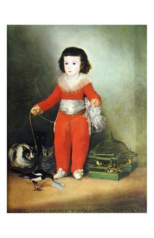 Don Manuel Osorio de Zuniga Art Print