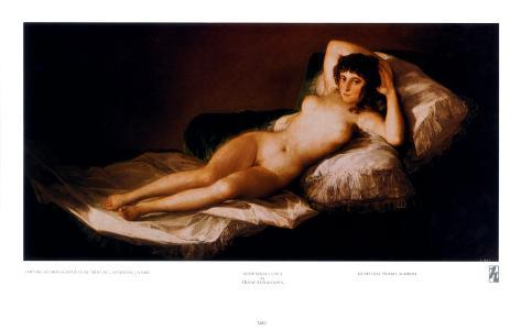 Nude Maja Art Print