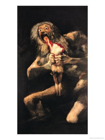Saturn Devouring One of His Children, 1821-23 Giclee Print