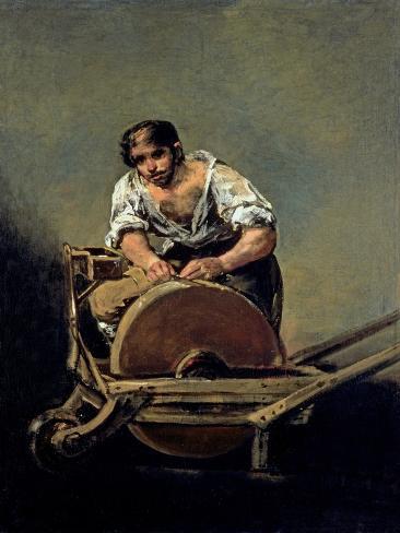 The Knife-Grinder, 1808-12 Giclee Print