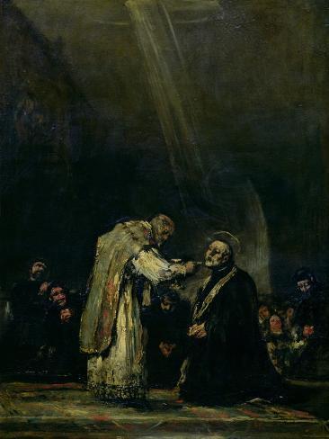 The Last Communion of St. Joseph Calasanz (1556-1648) circa 1819 Giclee Print