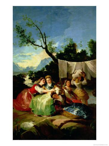 The Washerwomen, Before 1780 Giclee Print