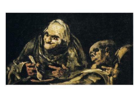 Two Old Men Eating Art Print
