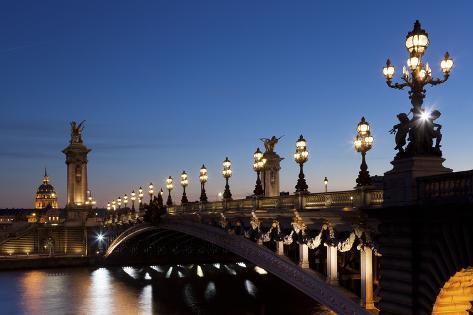 Alexander Iii Bridge, Paris, France Photographic Print