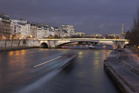 Bridge of La Tournelle, Paris, France Photographic Print