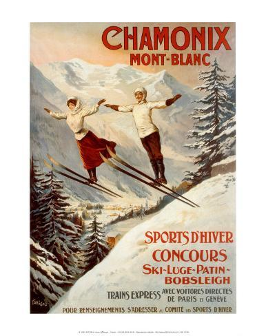 Chamonix, Mont Blanc Art Print