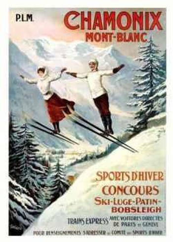 Chamonix Mont-Blanc Serigraph