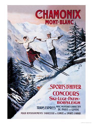 Chamonix, Mont Blanc Impressão artística