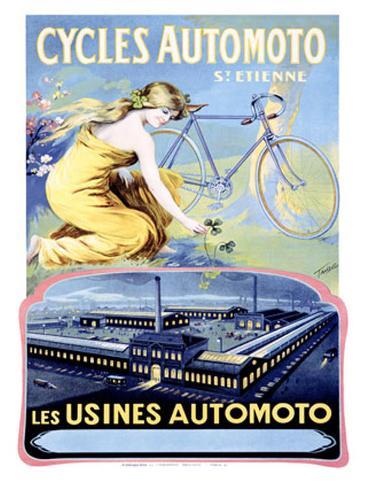 Cycles Automoto Giclee Print