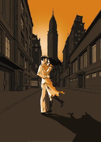 Seemann Und Mädchen In New York Art Print