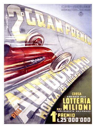 Gran Premio Autodromo Giclee Print