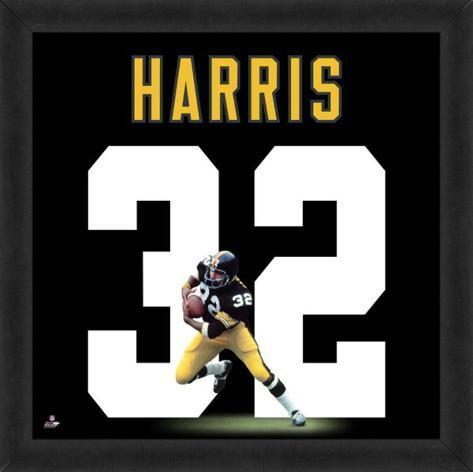 Franco Harris, Steelers representation of the player's jersey Framed Memorabilia