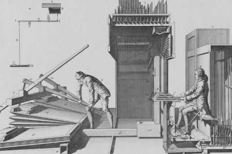 The Art of Organ Building; L'Art Du Facteur D'Orgues Stretched Canvas Print