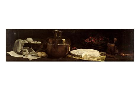 Still Life with Brie, 1863 Giclée-vedos