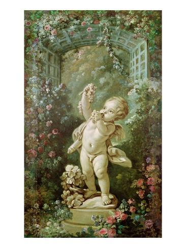 Cupid with Grapes Impressão giclée