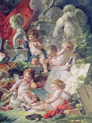 Genius Teaching the Arts, 1761 Lámina giclée