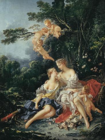 Jupiter and Callisto Art Print