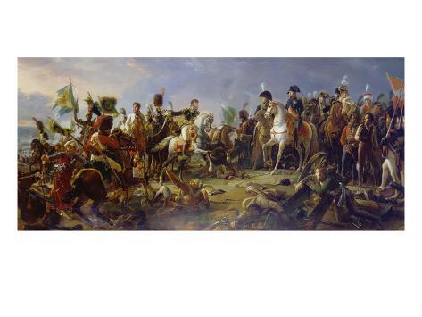 Napoleon Bonaparte at the Battle of Austerlitz Giclee Print