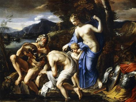 The Deification of Aeneas, 1642-1645 Impressão giclée