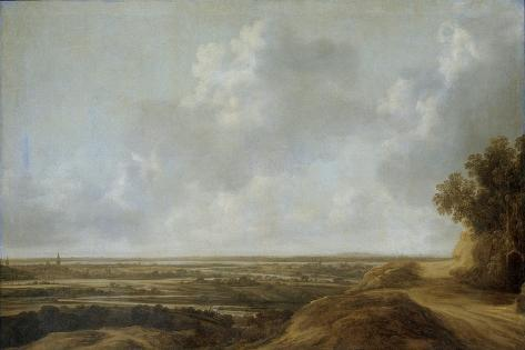 Panoramic Landscape in Cleves Art Print