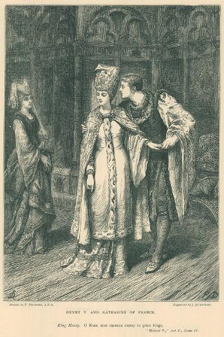 Illustration for Shakespeare's King Henry V Lámina giclée