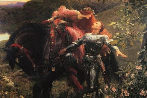 La Belle Dame Sans Merci Stretched Canvas Print