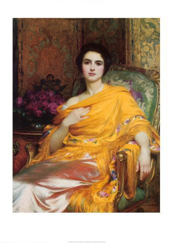 Portrait of Elsa, Daughter of William Hall, Esq. Art Print