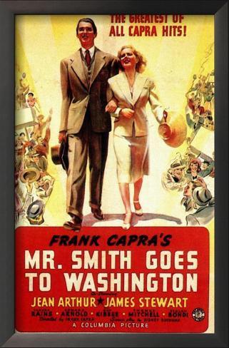 Frank Capra's Mr. Smith Goes to Washington Impressão artística emoldurada