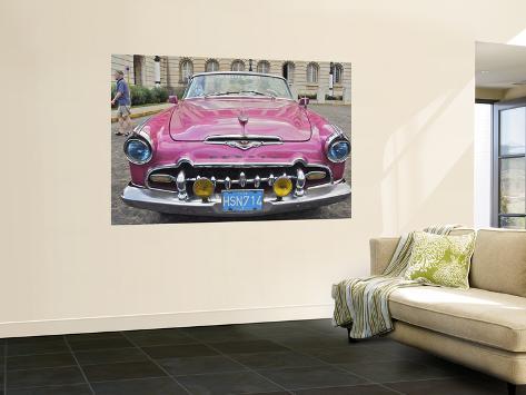 Classic Pink Desoto Taxi Car Wall Mural