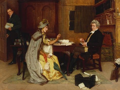 Consulting Her Lawyer, 1892 Giclee Print