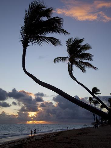 Bavaro Beach at Sunrise, Punta Cana, Dominican Republic, West Indies, Caribbean, Central America Photographic Print