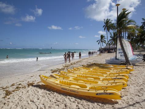 Bavaro Beach, Punta Cana, Dominican Republic, West Indies, Caribbean, Central America Photographic Print