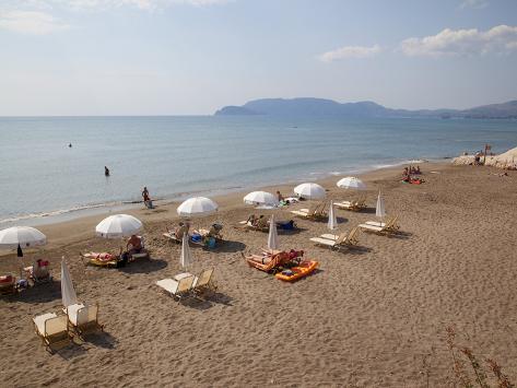 Beach, Kalamaki, Zakynthos, Ionian Islands, Greek Islands, Greece, Europe Photographic Print