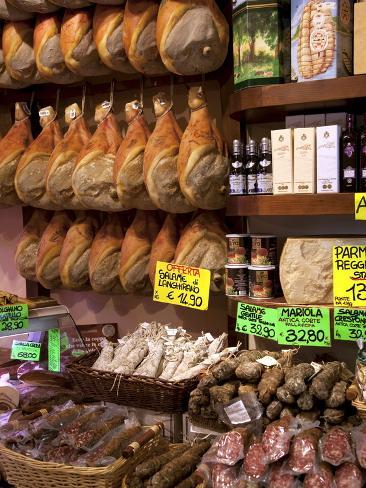 Butchers Shop, Parma, Emilia-Romagna, Italy, Europe Photographic Print