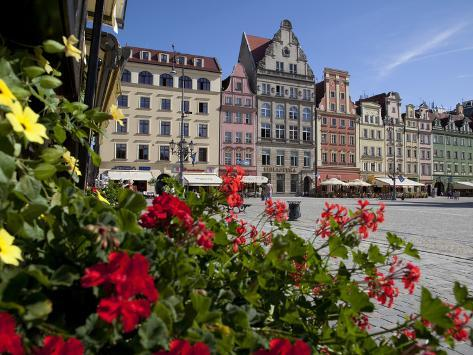 Market Square from Restaurant, Old Town, Wroclaw, Silesia, Poland, Europe Photographic Print